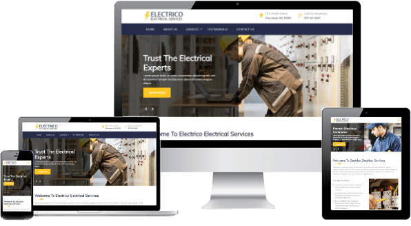electrician website design